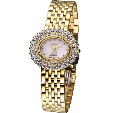 Ogival 愛其華 高雅薔薇 時尚腕錶-(380-03DLK)金色