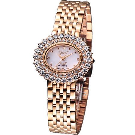Ogival 愛其華 高雅粉紅薔薇 時尚腕錶-(380-03DLR)玫瑰金色