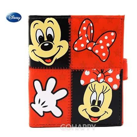 Disney迪士尼【米奇&米妮】立體多功能皮夾