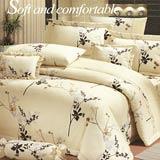 Joy bed【花朵鄉村-米】雙人鋪棉八件式床罩組(台灣製)