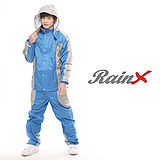 【RainX】兩件式透氣防風雨衣(寶藍)