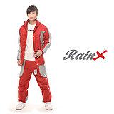 【RainX】兩件式透氣防風雨衣(紅)