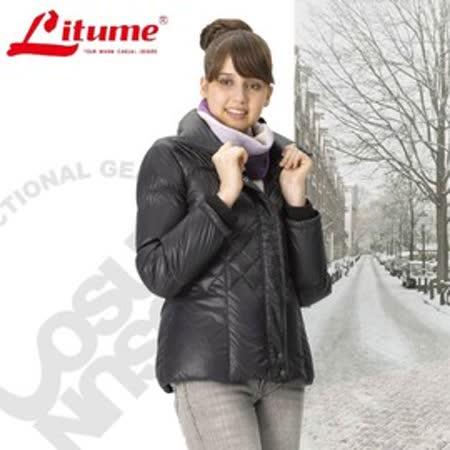 【意都美 Litume】女立體輕量防潑水透氣保暖羽絨外套_黑 F3153