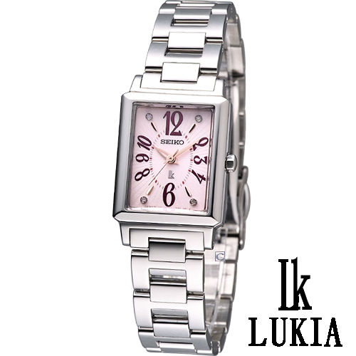 SEIKO Lukia 獨領風騷 時尚腕錶-(1N01-0JP0P)粉色SXGP05J-