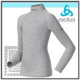【瑞士 ODLO】兒童頂極高領機能型保暖內衣/黑.灰(164).150199