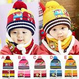 可愛((汽車聖誕款)) 保暖帽+圍巾二件組【現貨+預購】