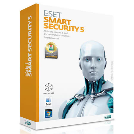 ESET Smart Security 5 防毒軟體一年單機授權盒裝版