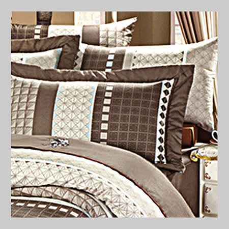 U.S.Polo皇室格調.100%精梳棉.標準雙人床包組.全程臺灣製造