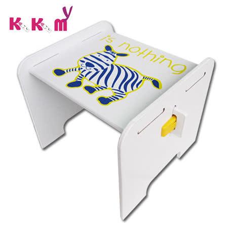 【kikimmy】時尚歐風斑馬椅-無椅背