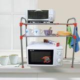 【LIFECODE】優品伸縮微波爐置物架/不鏽鋼廚房置物架