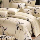 《100%精梳棉》雙人六件式兩用被床罩組(江南花語)