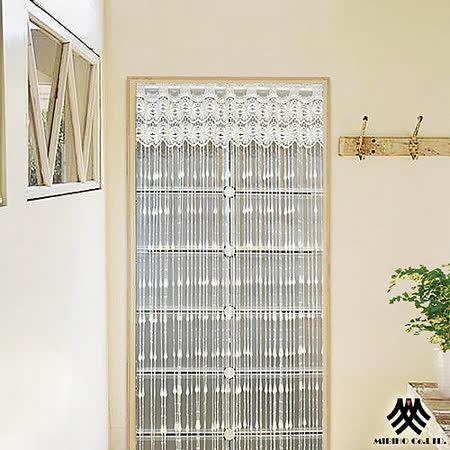 【M.B.H-香頌蘿拉】荷蘭紗開運線簾(白)(90x145cm)