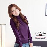 【FANTINO】可水洗羊毛,冬暖夏涼高領內搭衣(紫)967102