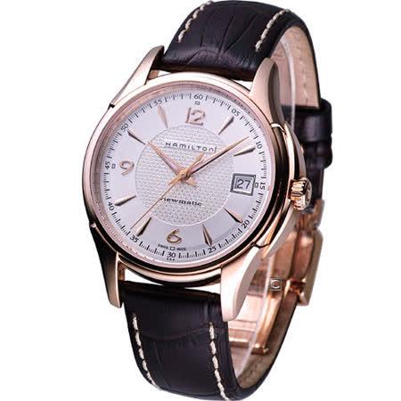 HAMILTON Jazzmaster爵士魅力 經典機械錶H32645555玫瑰金色