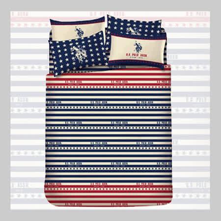 【名流精品寢具生活館】U.S.Polo頂尖榮耀.100%精梳棉.雙人薄被套.全程臺灣製造