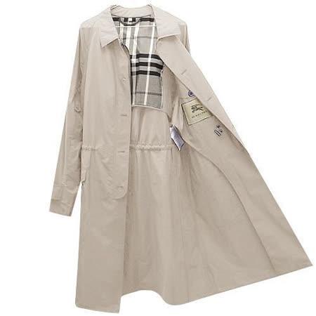 BURBERRY 英倫卡其色單排釦紳士長版風衣外套 US 40號【L號】