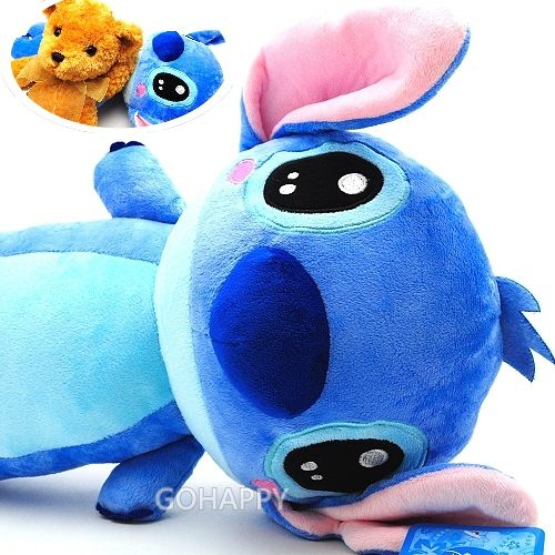 Disney迪士尼~史迪奇長形晚安枕~星際寶貝