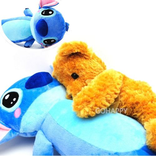 Disney迪士尼~史迪奇長形午安枕~星際寶貝