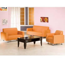 金吉利~(橘色)PVC皮沙發~1+2+3人組