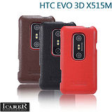 HTC EVO 3D X515M 專用 ICARER 高質感下翻式超薄真皮皮套