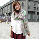 【Lus.G】韓系繽紛色彩暖呼呼毛線編織圍巾-彩色