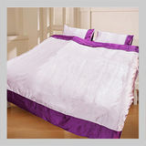 絲質刺繡.亮采新素材絲質.標準雙人床包薄被套全套