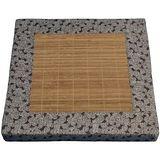 【凱堡】碳化竹蓆冬夏兩用記憶立體坐墊(1入)