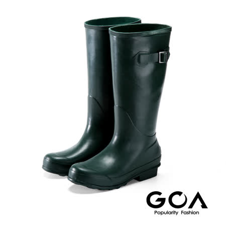 GOA 七彩摩登長筒雨靴-墨綠色