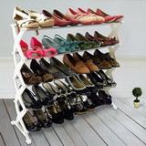 【LIFECODE】白天使五層不鏽鋼鞋架/可放20雙鞋