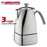 CafeDeTiamo 505 方型不鏽鋼摩卡壺-3杯份  HA2287