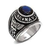 【COOBA】美海軍銀色不鏽鋼戒