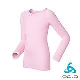 ODLO 銀離子兒童長袖圓領保暖排汗內衣(粉紅色)