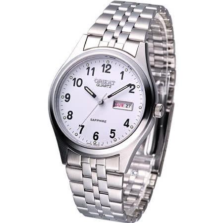 ORIENT 東方 經典男用腕錶S991F31S白