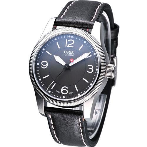 ORIS Big 飛行紀念腕錶-(73376494063LS)灰面