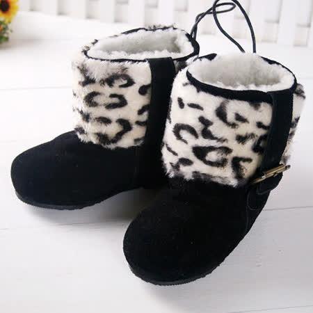 (購物車) KUKI 酷奇時尚保暖絨毛童靴/雪靴/高筒靴s3993~黑