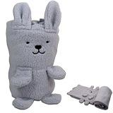 兔子兩用抱枕毯(灰色款)