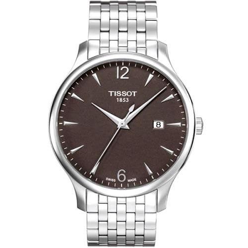 TISSOT TRADITION 復刻大三針鋼帶腕錶(T0636101106700)-灰