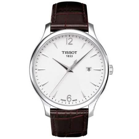 TISSOT TRADITION 復刻大三針腕錶(T0636101603700)-白