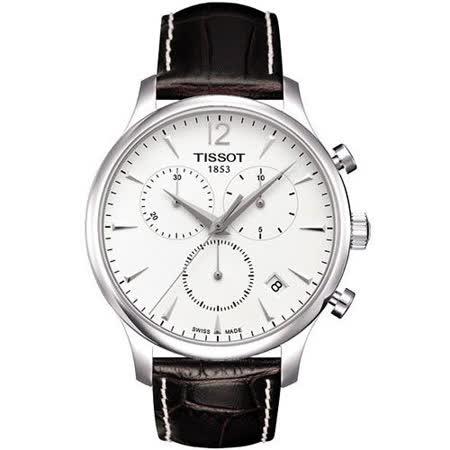TISSOT TRADITION 復刻計時腕錶(T0636171603700)-白