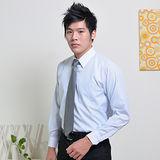JIA HUEI 長袖男仕白領防皺襯衫 藍條紋色