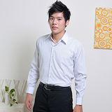 JIA HUEI 長袖男仕白領防皺襯衫 灰條紋色