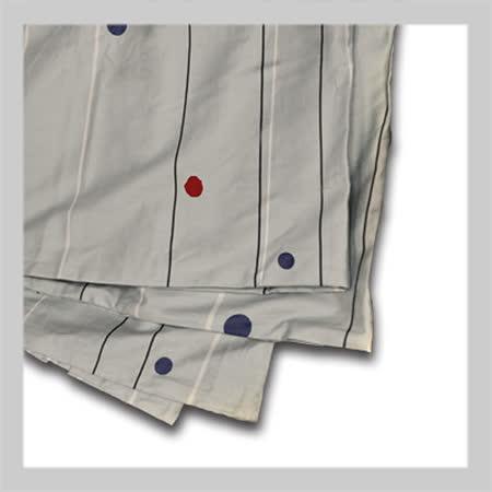 夢甜點點線條.60支精梳棉.雙人薄被套.全程臺灣製造