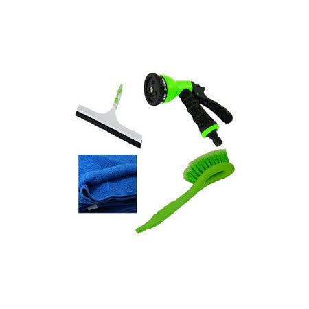 洗車用品組-B(水槍、擦拭布、洗車刷、玻璃刮刀)