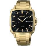 SEIKO SPIRIT 太陽能復古風尚腕錶(V158-0AF0K)