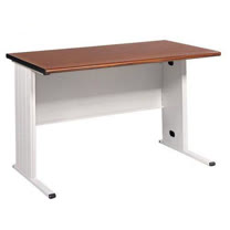 140CM 胡桃木紋色BTH辦公桌,電腦桌(淺灰)(BTH140)