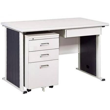 灰色辦公桌櫃組120CM