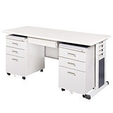 灰色MSC辦公桌櫃組150CM