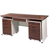 胡桃木紋色BTHA辦公桌櫃組150CM