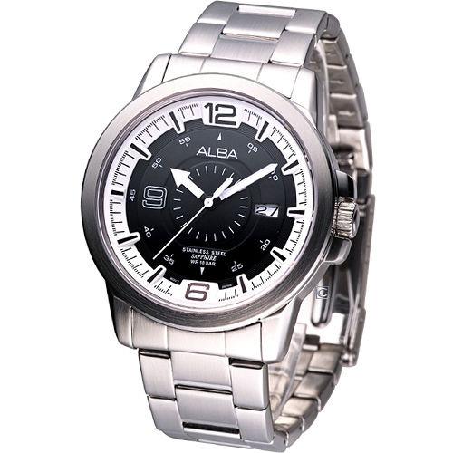 ALBA 活力時尚 經典錶-(VJ42-X008D)白邊AS9163X