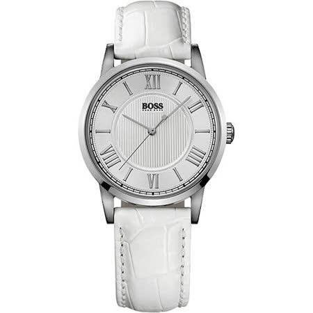 Hugo Boss 歐式羅馬風簡約腕錶(H1502259)-白